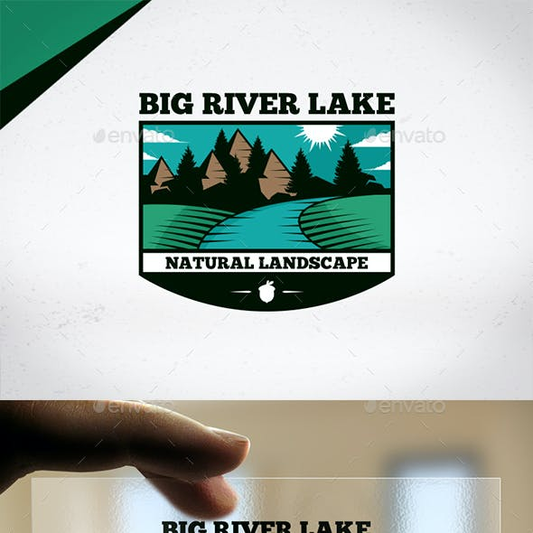 Big River Lake Logo Template