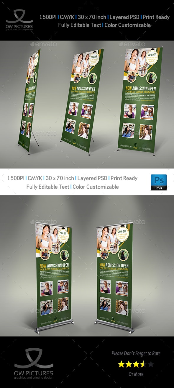 Education Signage Roll Up Banner Template - Signage Print Templates