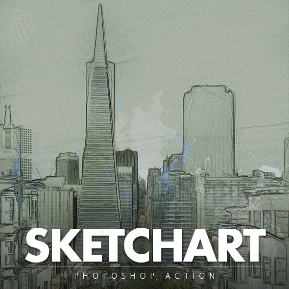 Sketchart Photoshop Action