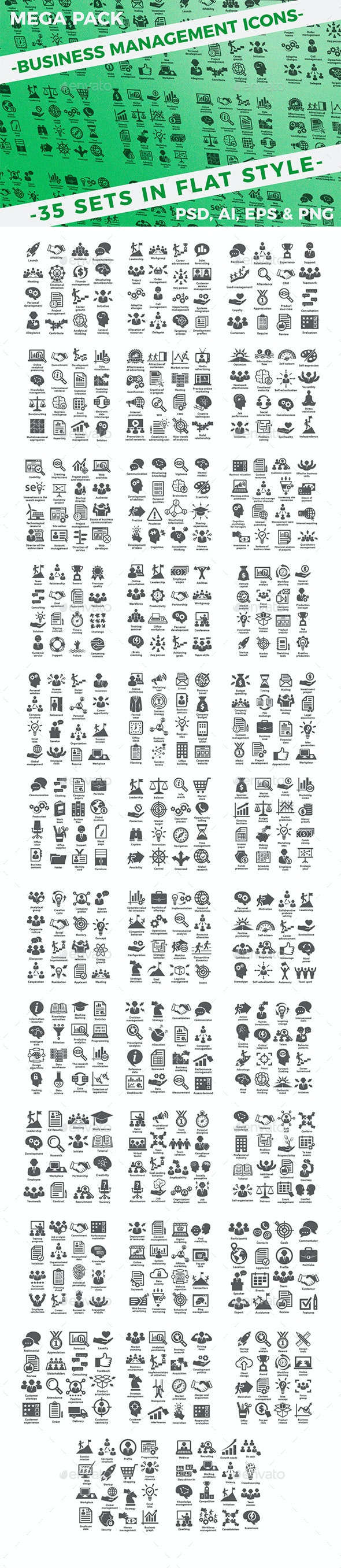 Business management icons.Mega Pack. - Business Icons
