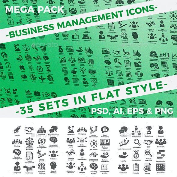 Business management icons.Mega Pack.