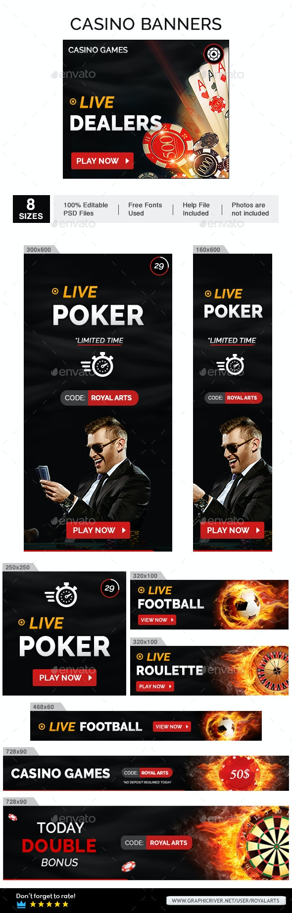 Web Banner Casino - Banners & Ads Web Elements