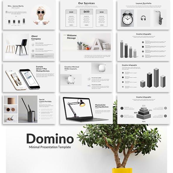 Domino - Minimal Keynote Template