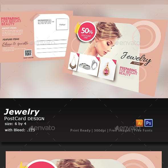Jewelry Store Post Card