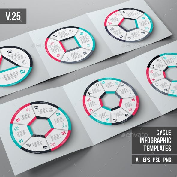Infographics template set v.25