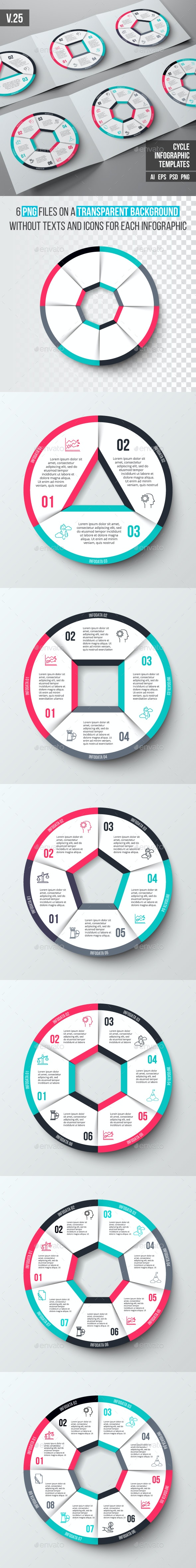 Infographics template set v.25 - Infographics