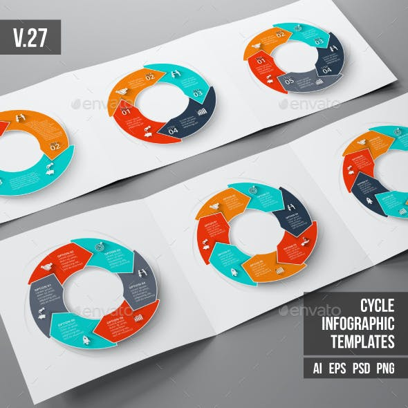Infographics template set v.27