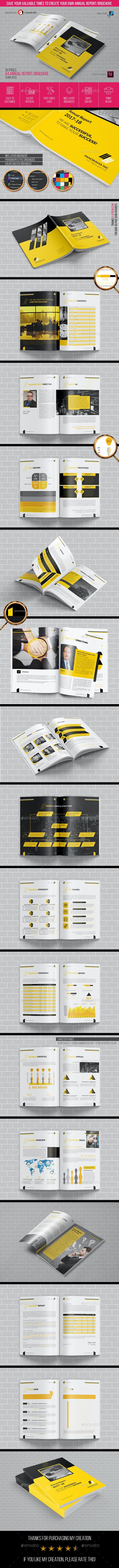 Annual Report Brochure Template 2018 - Brochures Print Templates