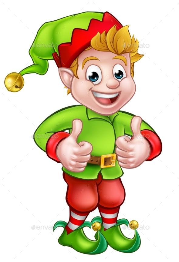 Cartoon Christmas Elf by Krisdog
