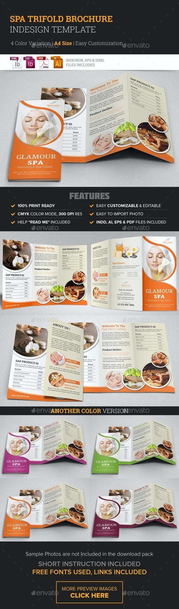 Spa & Beauty Salon Trifold Brochure 2 - Corporate Brochures