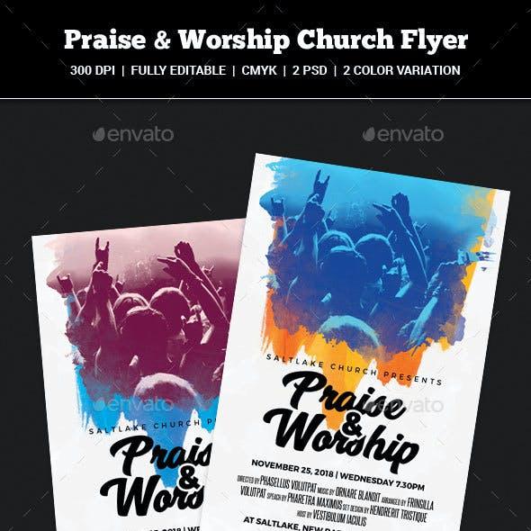 Praise & Worship Church Flyer