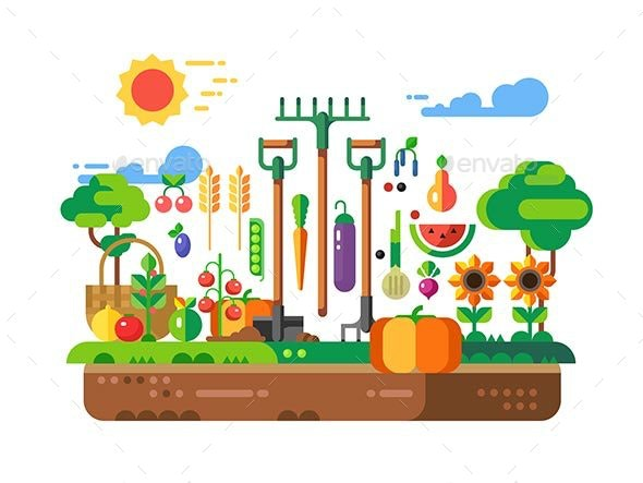 Gardening Design Concept - Food Objects