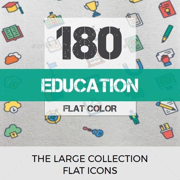 Education Color Line Icons