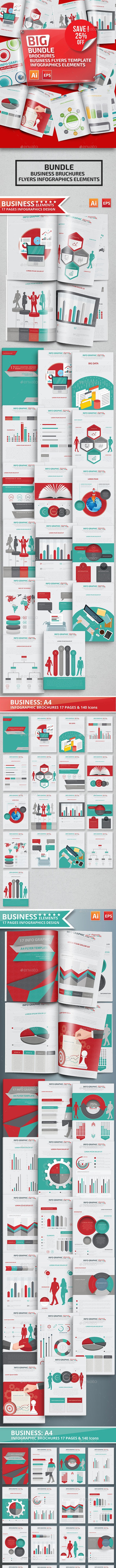 Bundle Business Infographics Brochures - Infographics