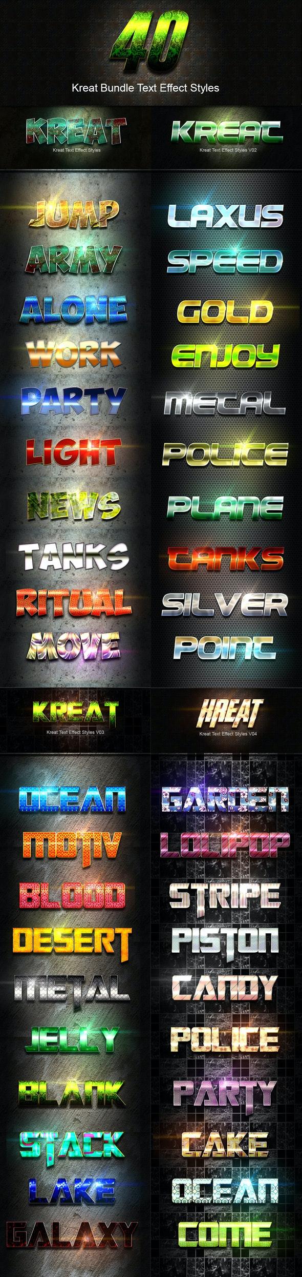 40 Kreat Bundle Text Effect Styles - Text Effects Styles