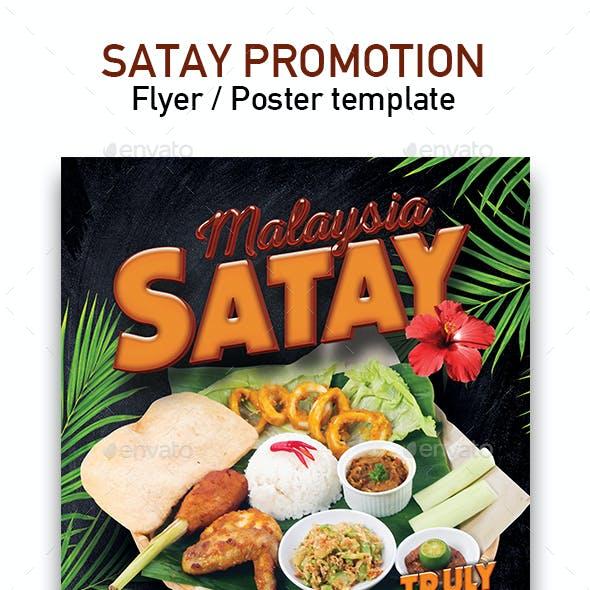Template of Malaysia Food Restaurant Menu