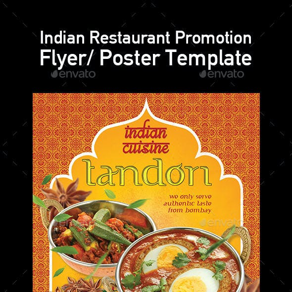 Template of India Food Restaurant Menu