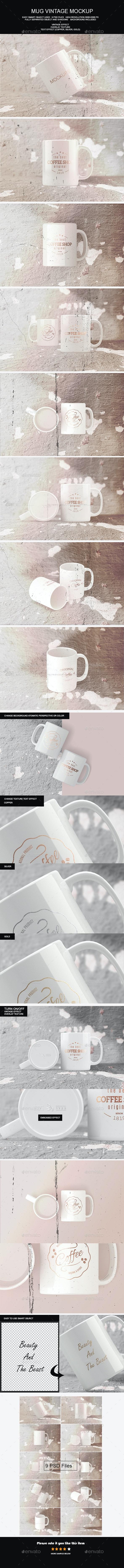 Mug Vintage Mock-Up - Product Mock-Ups Graphics
