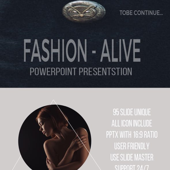 Fashion Alive Google Slide Presentation