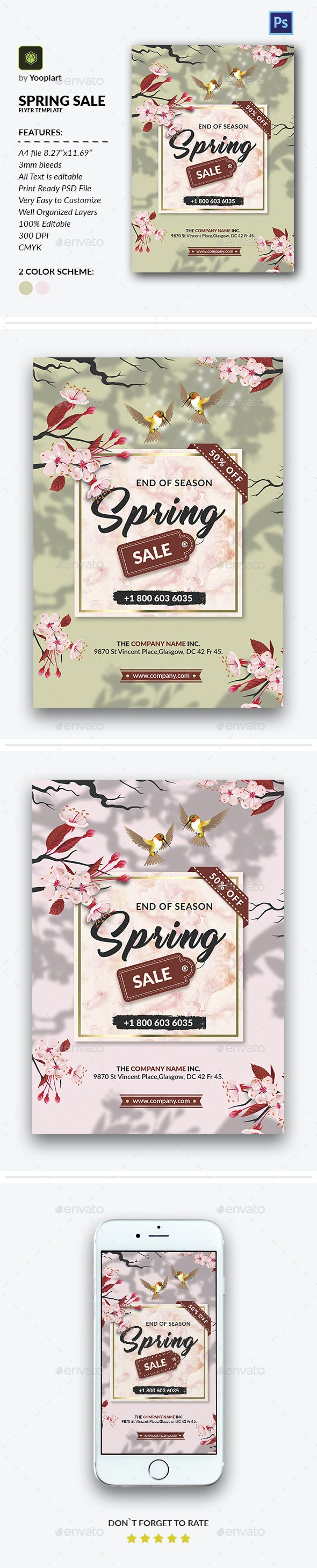 Spring Sale Flyer Template - Events Flyers