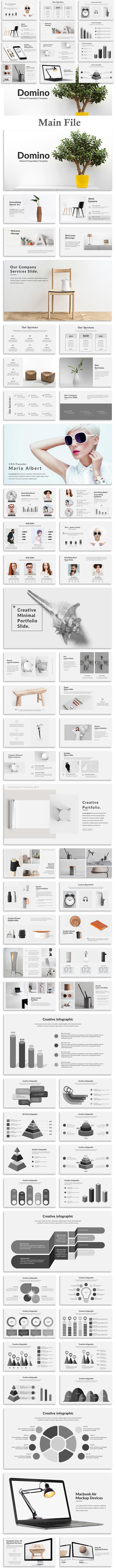 Domino - Minimal Google Slide Template - Google Slides Presentation Templates