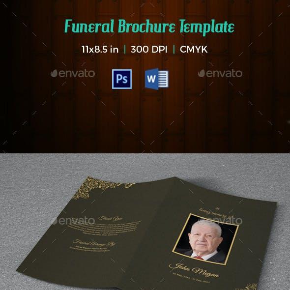 Funeral Program Template V175
