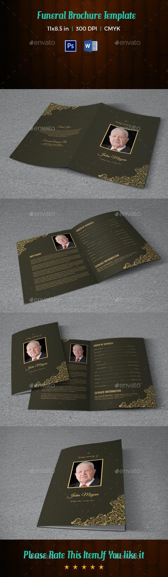 Funeral Program Template V175 - Informational Brochures