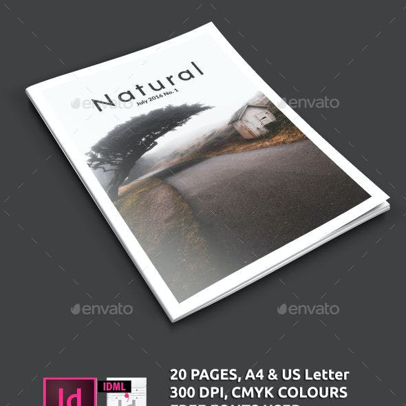 Clean Natural Magazine Template A4/US letter