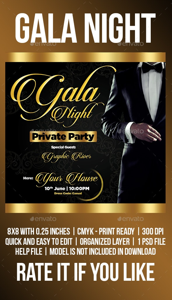 Gala Night - Events Flyers