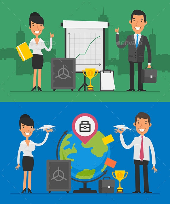 Business Concept Set Objects and Business People Part 2 - Concepts Business