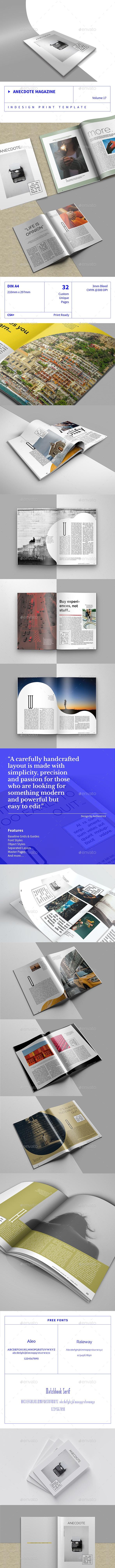 Anecdote Magazine - Volume 17 - Magazines Print Templates