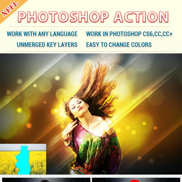 Glitters Effect Photoshop Action