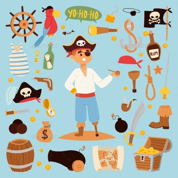 Pirate Stickers Icons