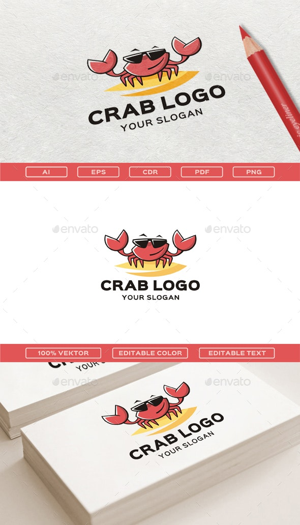 Crab Logo Template - Animals Logo Templates