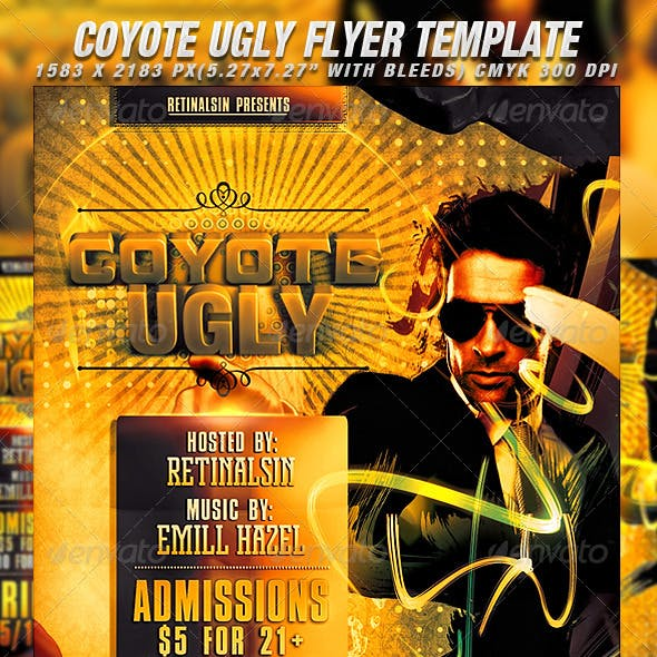 Coyote Ugly Flyer Template