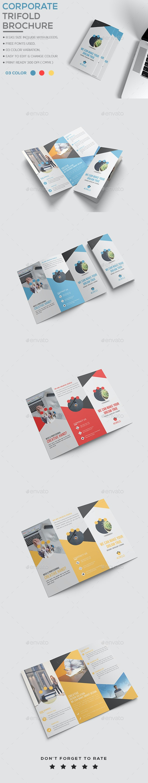 Corporate Trifold Brochur - Brochures Print Templates