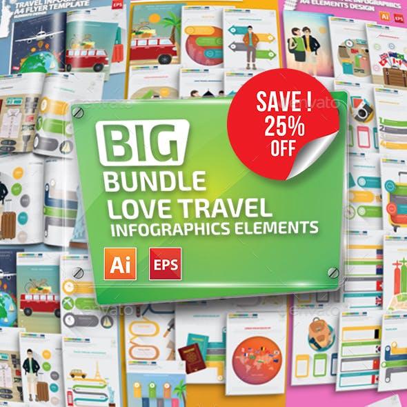 Bundle Travel Infographics Template
