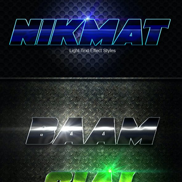 Nikmat Text Effect Styles V3