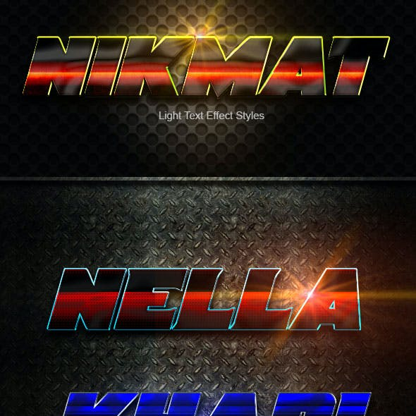 Nikmat text Effect Styles V4