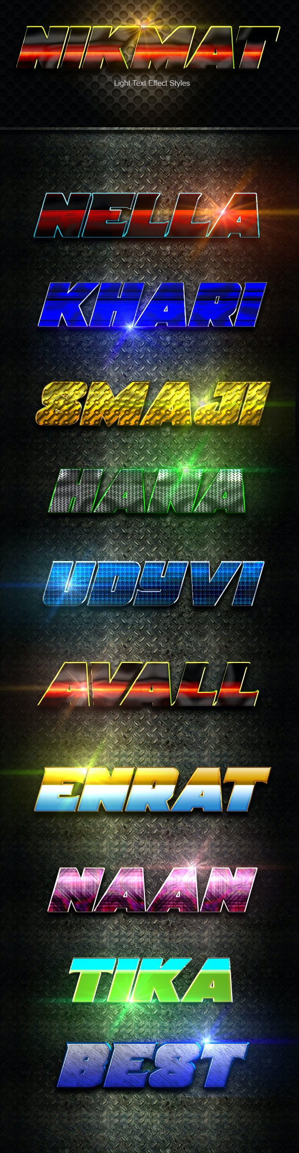 Nikmat text Effect Styles V4 - Text Effects Actions
