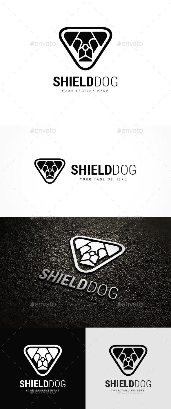 Shield Dog Logo - Animals Logo Templates