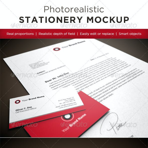 Photorealistic Stationery Mock-Ups