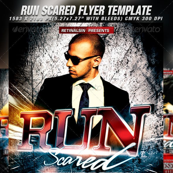 Run Scared Flyer Template
