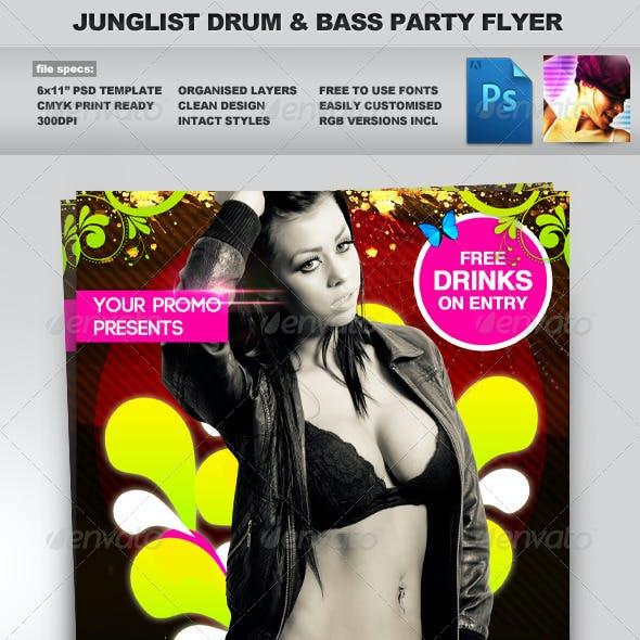 Junglist Summer Sessions 2x PSD Flyer Templates