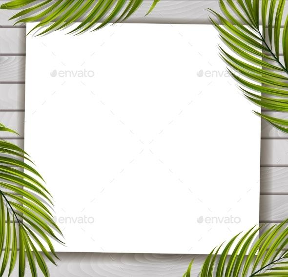 Summer Tropical Beach Background - Seasons/Holidays Conceptual