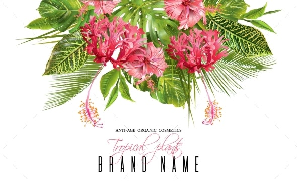 Tropical Flower Banner - Flowers & Plants Nature