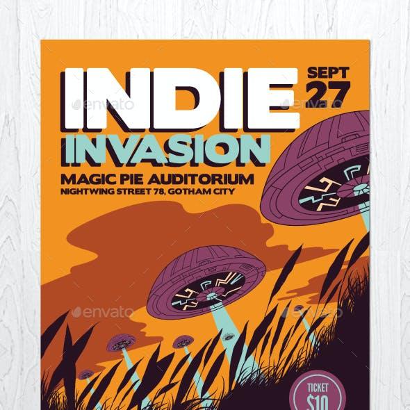 Indie Invasion Flyer