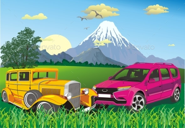 Cars Outside the City. - Landscapes Nature
