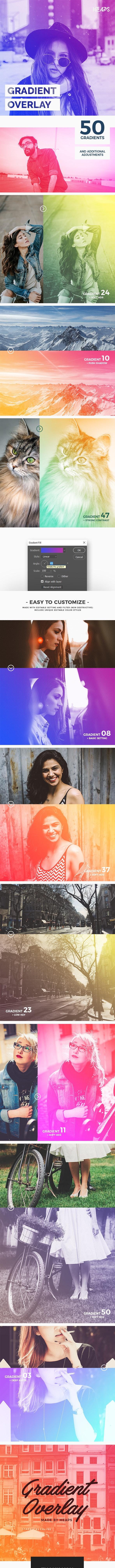 Gradient Overlay Photoshop Action - Photo Effects Actions