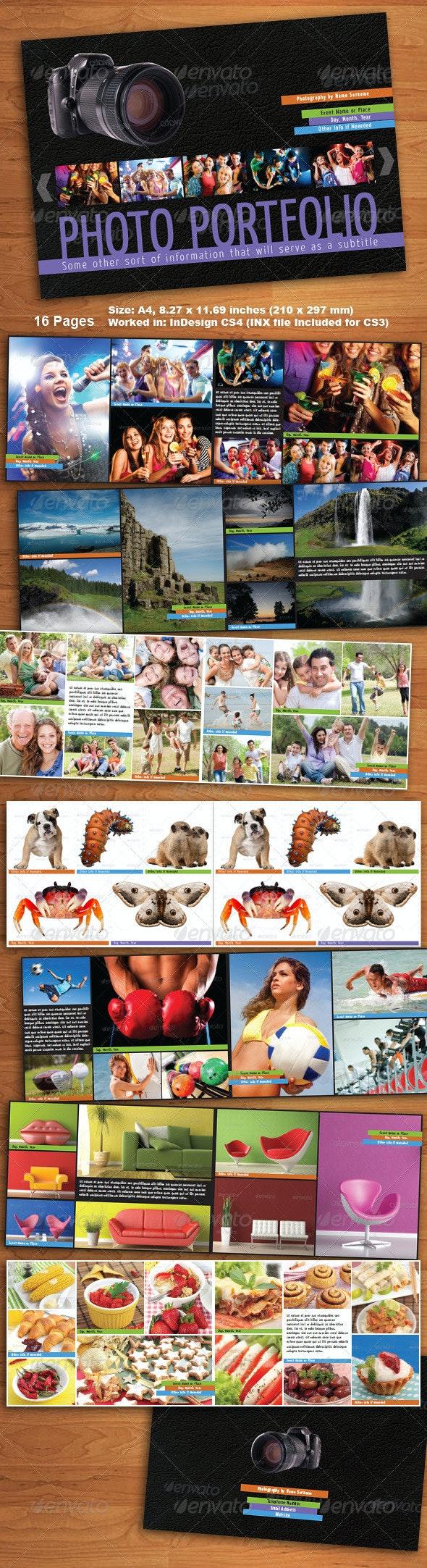 16 Page Photo Portfolio and Album - Photo Albums Print Templates